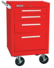 Rolling Cabinet,21x18x28 In,4 Drawer,Red -- 13R641