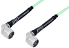 N Male Right Angle to N Male Right Angle Low Loss Cable 150 cm Length Using PE-P142LL Coax, RoHS -- PE3C0967-150CM -Image