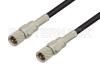 10-32 Male to 10-32 Male Cable 12 Inch Length Using RG174 Coax -- PE36520-12 -- View Larger Image