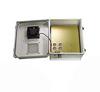 14x12x07 Fiberglass Polyester FRP Weatherproof Outdoor IP24 NEMA 3R Enclosure, Terminal Block, MECH Thermostat Drilled Mount 12VDC Fan Gray -- TEF141207-50F -Image