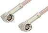 SSMA Male Right Angle to SSMA Male Right Angle Cable 18 Inch Length Using RG316 Coax, RoHS -- PE36574LF-18 -Image