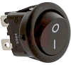 Switch, Rocker, DPST, ON/OFF, BLACK WITH BLACK Actuator, 10A, 125 VAC -- 70207290