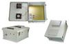 18x16x08 Fiberglass Polyester FRP Weatherproof Outdoor IP24 NEMA 3R Enclosure, 240 VAC Universal Outlet MNT PLT, MECH Therm. Heat & Fan Gray -- TEF181608-EHF -Image