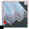 Galvanized Angle -- 1 x 1 x 1/8 - Image