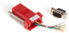 DB9 Colored Modular Adapter (Unassembled), Male to RJ-45, 8-Wire, Red -- FA4509M-RD