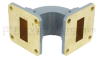 WR-90 Waveguide E-Bend Commercial Grade Using UG-39/U Flange With a 8.2 GHz to 12.4 GHz Frequency Range -- SMF90EB - Image
