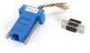DB9 Colored Modular Adapter (Unassembled), Female to RJ-45, 8-Wire, Blue -- FA4509F-BL