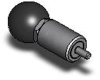Pull Pin - Steel Plunger w/ Round Handle - Steel Barrel - 1/4 in -- CP-K320R