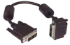 DVI-D Single Link LSZH DVI Cable Male / Male Right Angle, Top 3.0 ft -- MDA00040-3F -- View Larger Image
