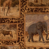 African Animals In Frames Chenille Fabric -- R8992 - Image