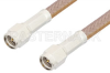 SMA Male to SMA Male Cable 12 Inch Length Using RG400 Coax, RoHS -- PE3500LF-12 -Image