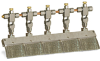 "Angled Valve Brush, 11 1/4"" X 3/8"" Flat Stainless Steel, 1/4"" OD Tube Inlet -- B310-5X-SS -- View Larger Image"