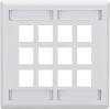 12-Port White Double-Gang Keystone Wallplate -- WPT494 - Image