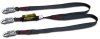 Arc-Rated Shock-Absorbing Lanyards - Twin-leg, snap hook & snap hook > UOM - Each -- 8798K/6FTBK -- View Larger Image