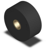Solid Roller - Bronze Bushing - 60 Dur Neoprene - 2.50 in Dia X 1.125 in Wide -- RR-125-60UR