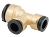 Quick-Connect Reducing Tee - Lead Free Brass -- LF4726R - Image