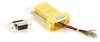 DB9 Colored Modular Adapter (Unassembled), Female to RJ-45, 8-Wire, Yellow -- FA4509F-YE