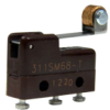 MICRO SWITCH SM Series Subminiature Basic Switch, Single Pole Double Throw (SPDT), 125 Vac, 1 A, Roller Lever Actuator, Solder Termination -- 311SM68-T -Image
