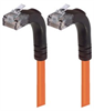 Category 5E Right Angle Patch Cable, Right Angle Up/Right Angle Up, Orange 25.0 ft -- TRD815RA5OR-25 -Image