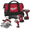Milwaukee 2694-24 M18-18v Lith-ion 4 Tools Combo Kit -- COMBO18V269424