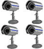 4-Pack 1/3â Sony Super HAD CCD 480 TV Line 3.6mm Fixed Lens Bullet Camera with 24 IR LED