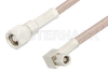 SMC Plug to SMC Plug Right Angle Cable 12 Inch Length Using RG316 Coax -- PE33363-12 -Image