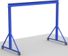 Fixed Height Steel Gantry Crane, 1 ton Capacity -- FG-1 Series