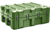 Pelican AL3022-0705 Single Lid Flat Shipping Case with Foam and Casters - Olive Drab -- PEL-AL3022-0705RPFC137 -Image