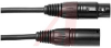 XLR Plug/Jack; 180 in.; Soft PVC Low Noise Microphone Cable; Non Booted; Black -- 70197169