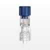 Tuohy Borst Adapter with Blue Flat Cap, Male Luer Connector with Spin Lock -- 80465 -Image