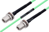 Temperature Conditioned N Female Bulkhead to N Female Bulkhead Low Loss Cable 36 Inch Length Using PE-P142LL Coax -- PE3M0177-36 -- View Larger Image