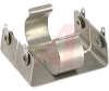 Battery Holder; C; 0.875 in. to 1.125 in.; Aluminum; Nickel Plated; PC Mount; 2 -- 70182569 - Image