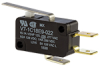MICRO SWITCH V7 Series Miniature Basic Switch, Single Pole Double Throw Circuitry, 15 A at 277 Vac, Straight Lever Actuator, 0,83 N [3.0 oz] Maximum Operating Force, Silver Contacts, Quick Connect Ter -- V7-1C18E9-022 -Image