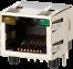 PC board Single jack RJ45 LED, Shielded -- AJT34l8813-014