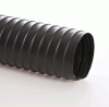 Double-Ply Black Neoprene Coated Nylon Fabric Hose -- Flexaust® CWY-W 10.0