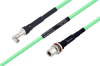 Temperature Conditioned SMA Male Right Angle to N Female Bulkhead Low Loss Cable 48 Inch Length Using PE-P300LL Coax -- PE3M0236-48 -Image
