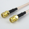 SMA Female to SMA Female Cable RG-316 Coax in 24 Inch and RoHS -- FMC1313315LF-24 -Image
