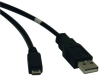 USB 2.0 A to Micro-B Cable (M/M), 3-ft. -- U050-003