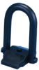 Pivot Lifting Plate Hoist Ring: 7/8-9 Thread x 6-1/2 U-Bar Height, Rated Load: 8000 lbs. -- AK44415