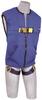 DBI-SALA Delta Vest Blue Universal Full Vest Body Harness - Polyester Webbing - 840779-00998 -- 840779-00998