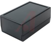 ABS ENCLOSURE, NO BATT, RECESSED TOP, BLACK, 3.8X2.4X1.5 -- 70020400 - Image