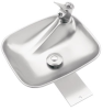 Deck Mounted, Single Bubbler Drinking Fountain With Stainless Steel Bowl -- 4010