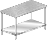 MTG Series, Maple NSF Listed Flat Top Worktable | Prep Table -- MTG-2436 - Image