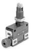 MICRO SWITCH SL1 Series Limit Switch, Cross Roller Plunger (90°, Rotated Plunger) - Long, 1NC/1NO SPDT Snap Action, Compression Fitting -- SL1-K -Image