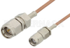 SMA Male to Reverse Polarity SMA Male Cable 72 Inch Length Using RG178 Coax -- PE35208-72 -Image
