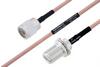 MIL-DTL-17 N Male to N Female Bulkhead Cable 200 cm Length Using M17/60-RG142 Coax -- PE3M0010-200CM -Image
