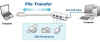 3 Port USB 2.0 Self-Powered Hub w/ Direct File Transfer -- 150526 - Image