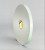 3M 4008 Off-White Foam Mounting Tape - 1/2 in Width x 36 yd Length - 1/8 in Thick - 06450 -- 021200-06450 -- View Larger Image