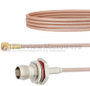 Snap-On RA MMBX Plug to TNC Female Bulkhead Cable RG316 Coax in 6 Inch -- FMCA1426-6 -Image