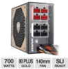 Cougar COUGARGX700 Modular Power Supply - 700W, 80 Plus Gold -- COUGARGX700